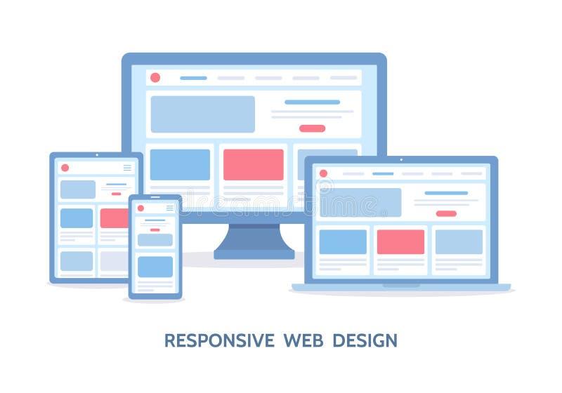 Web design rispondente illustrazione vettoriale