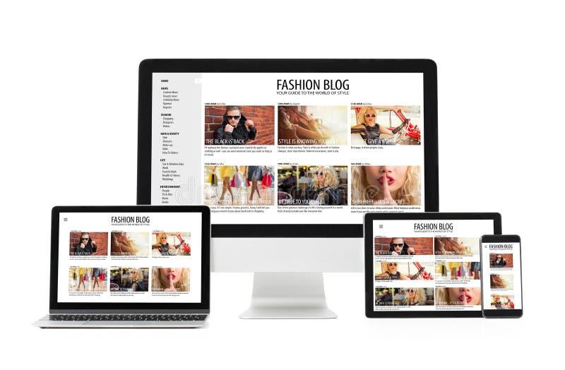 Web design rispondente fotografie stock libere da diritti