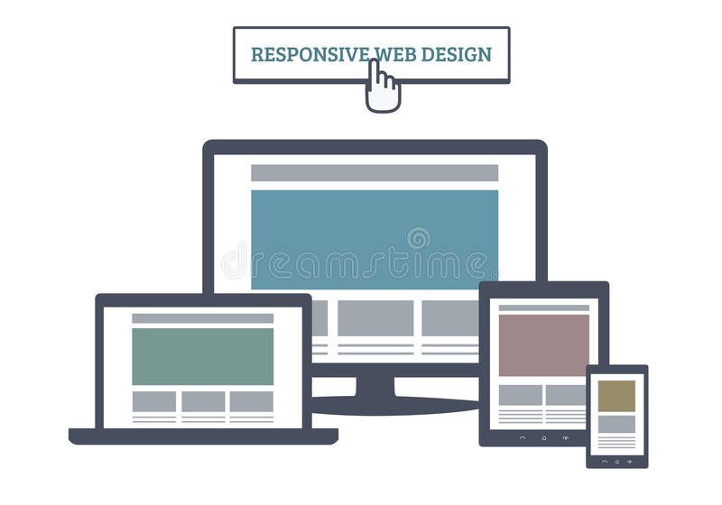 Web design sensible illustration libre de droits