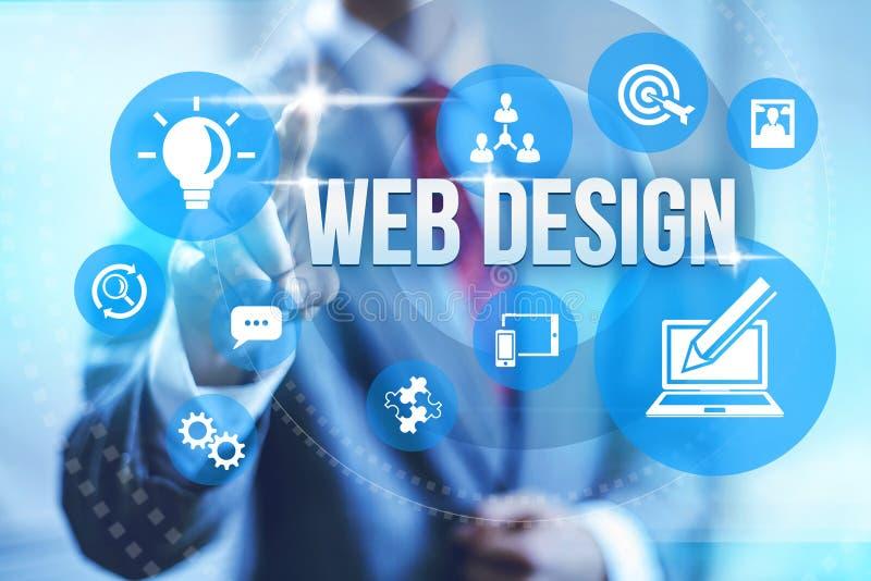 Web design. Service concept illustration