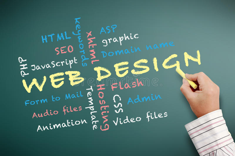 Web design teaching royalty free illustration
