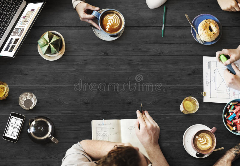 Web Design Team Working Planning Website Concept stock photos