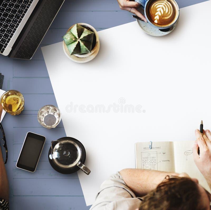 Web Design Team Working Planning Website Concept stock photo