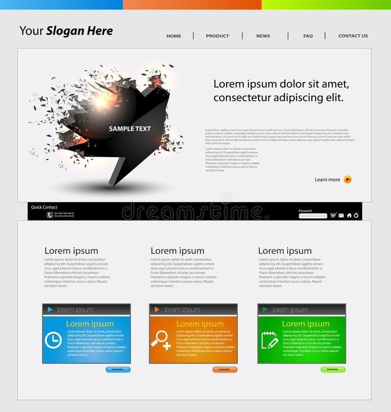 Web design template stock vector. Illustration of environment - 24200857