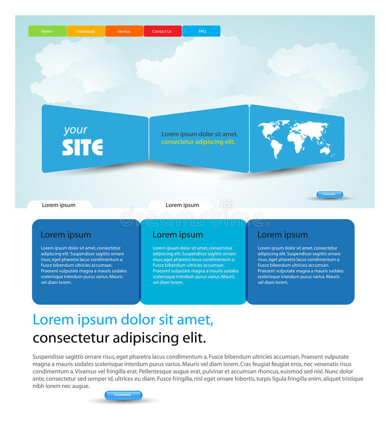 Web Design Template Stock Photography