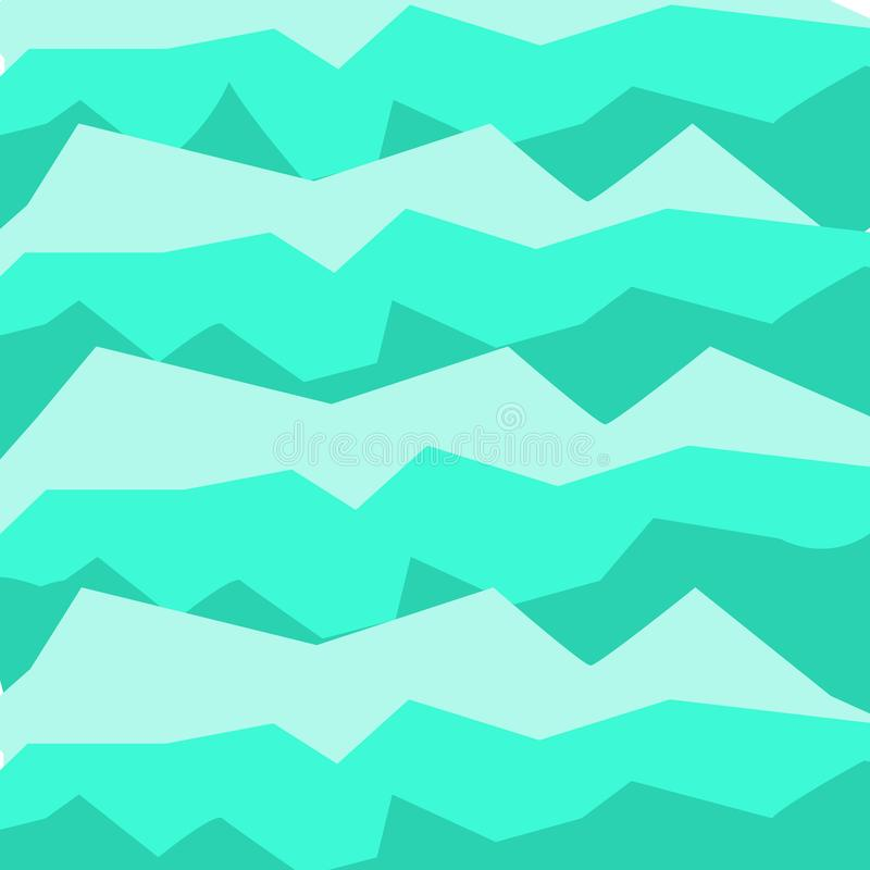 Web design template. blue abstract geometrical waves. Template for postcard and posters stock illustration