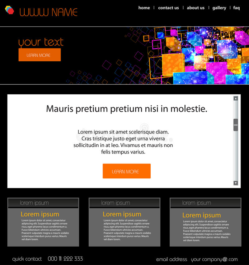 Web design template stock illustration