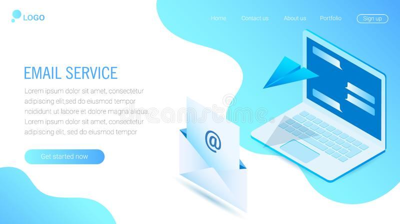 Web Design template. eps10 stock illustration