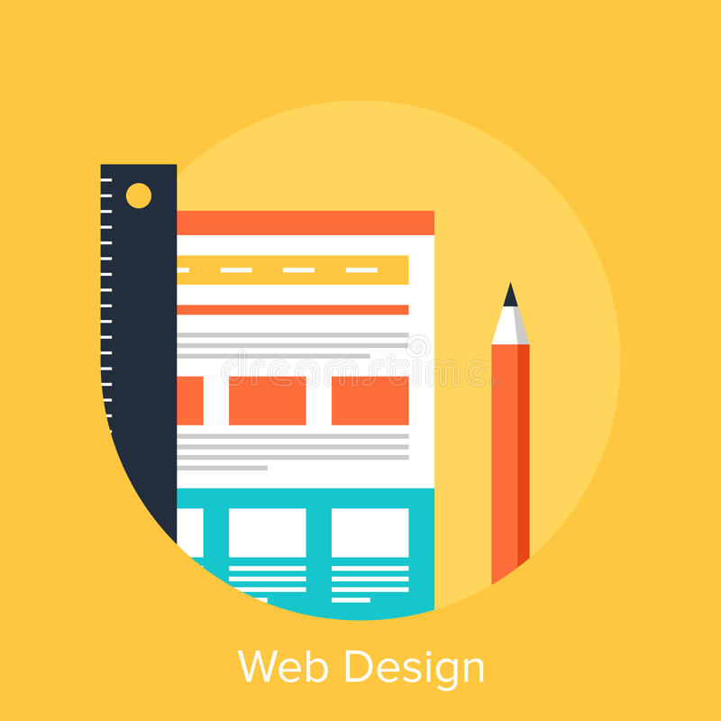 Web Design. Vector illustration of web design flat concept vector illustration