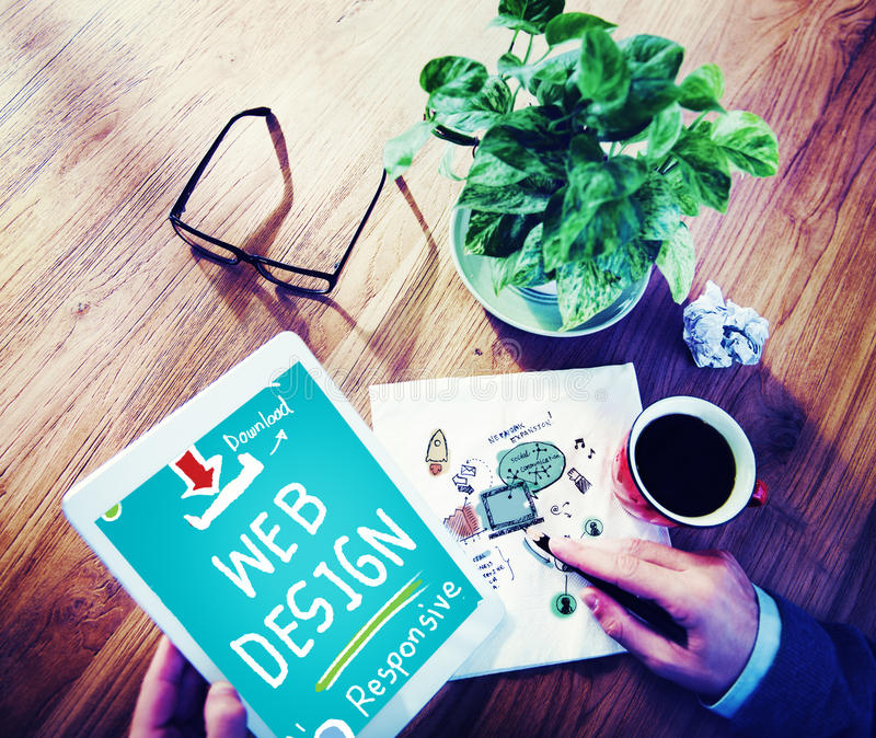 Web Design Web Development Responsive Branding Concept stock photography