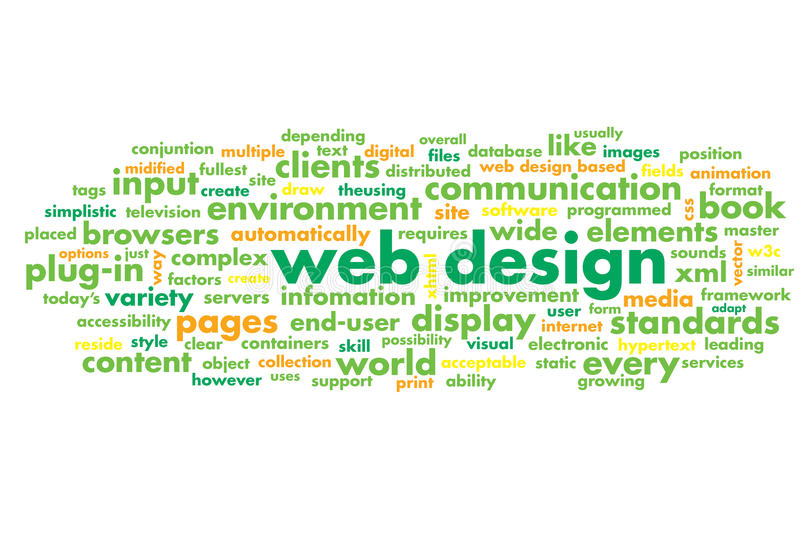 Web design. Word cloud as art royalty free illustration