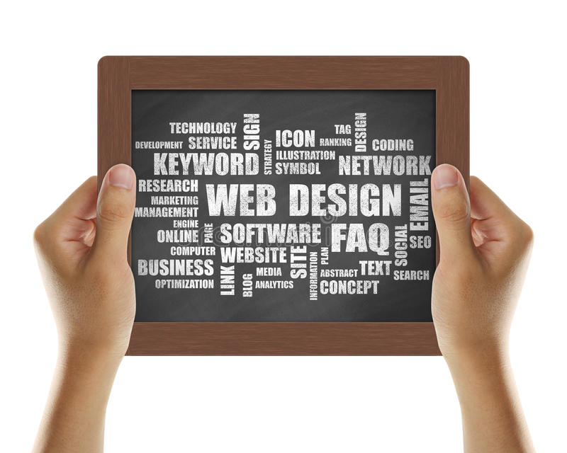 Web Design stock image