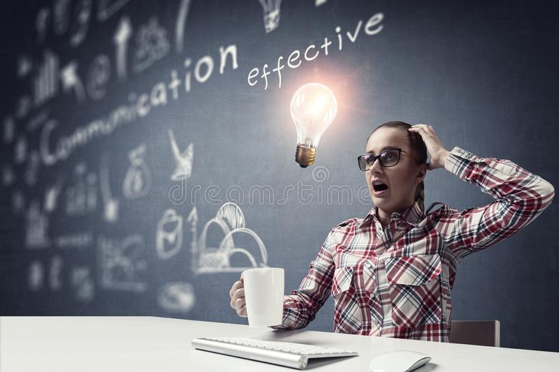Web developer or freelancer stock photo