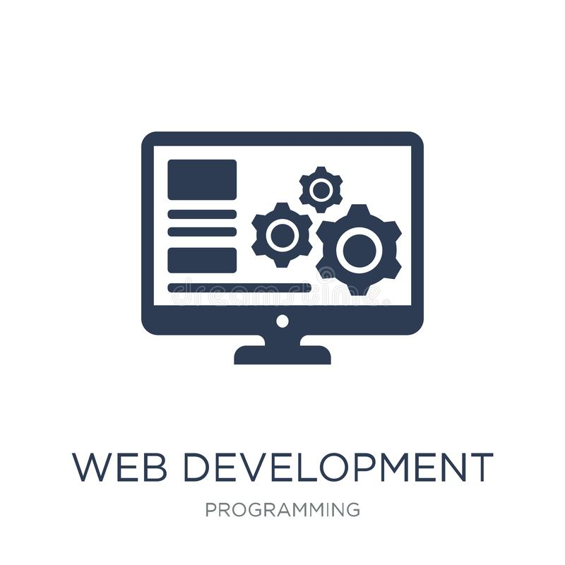 Web development icon. Trendy flat vector Web development icon on vector illustration