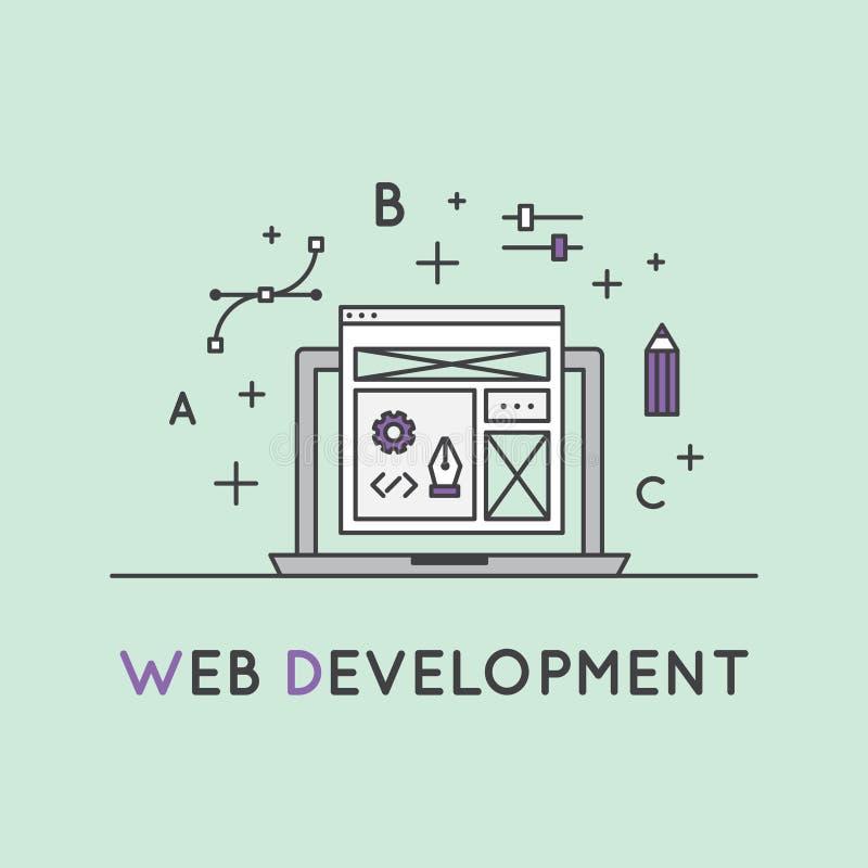 Web Development Process stock illustration