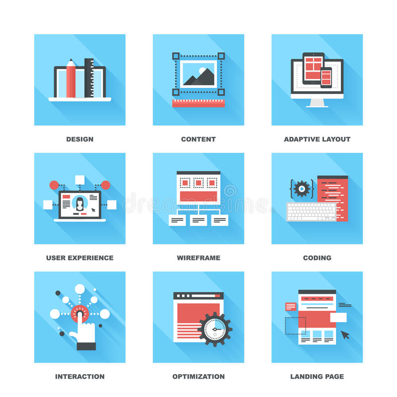 Web Development stock illustration