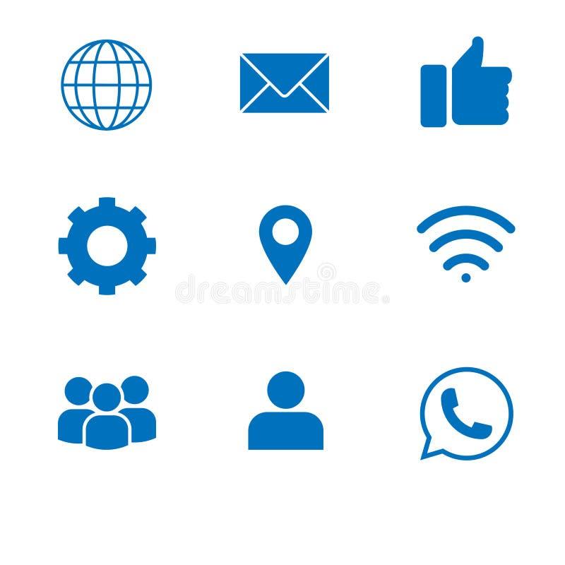 Web devices icons set stock illustration