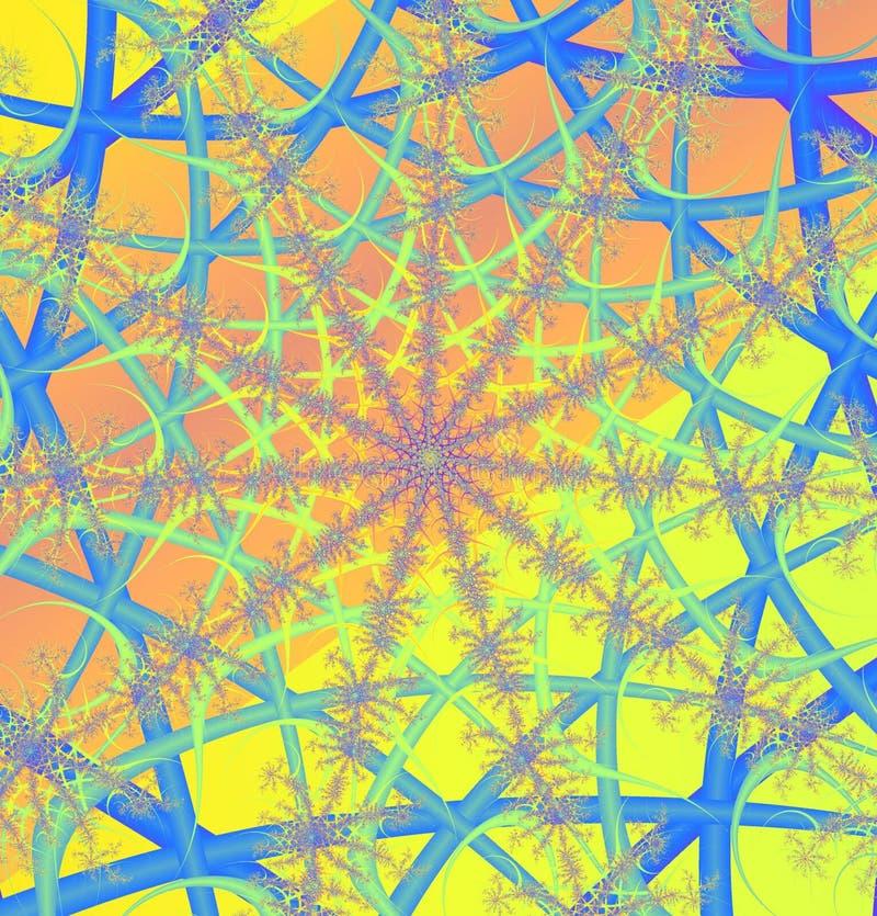 Web di frattalo illustrazione vettoriale
