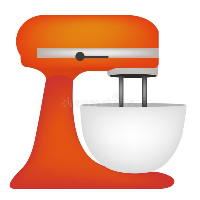 Web di logo di immagine dell'icona del miscelatore dell'icona dell'illustrazione di vettore del miscelatore della cucina illustrazione vettoriale