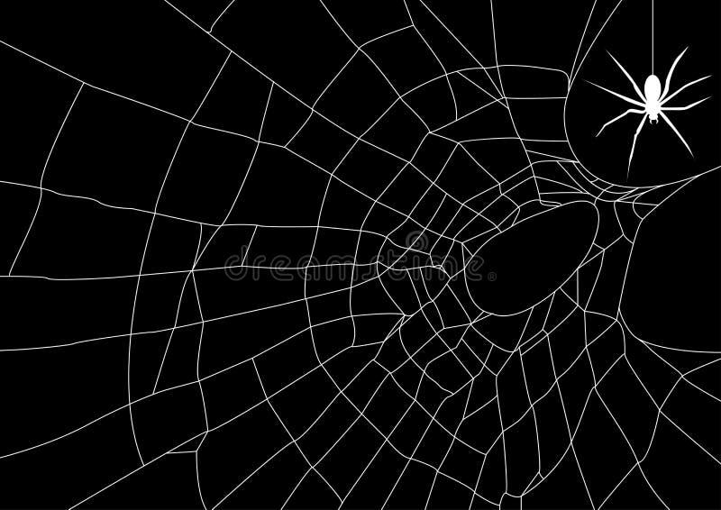 Web di ragno con il ragno illustrazione vettoriale