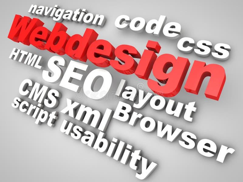Web-Diseñe ilustración del vector