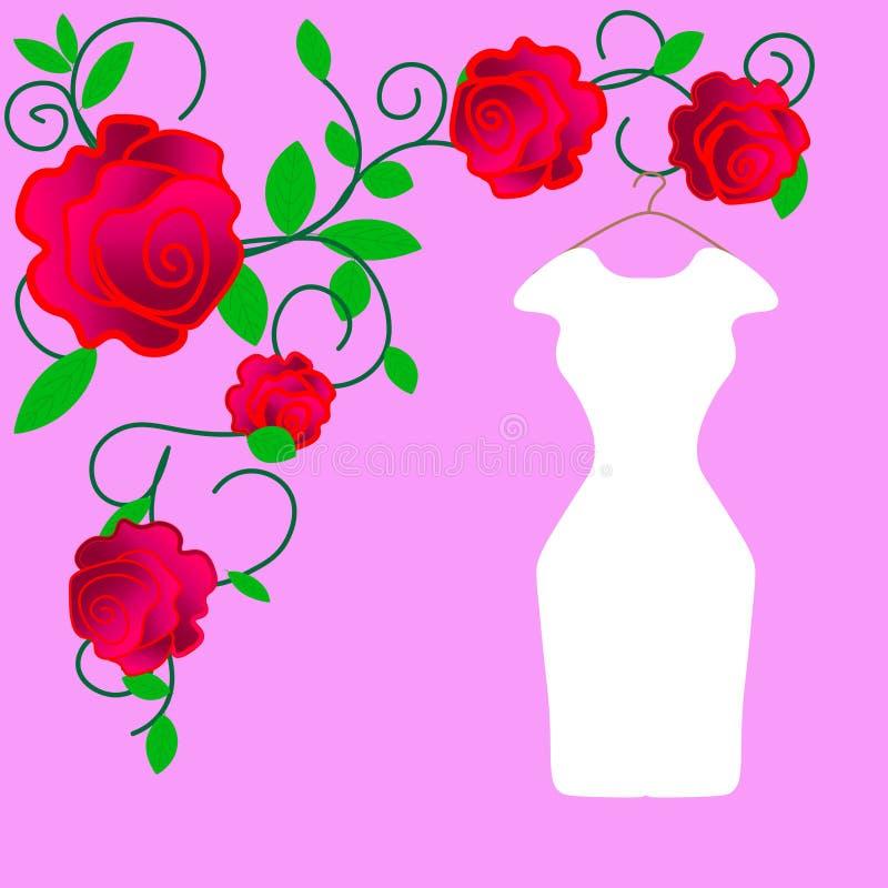 web Diseño del vestido de boda, blanco y negro libre illustration
