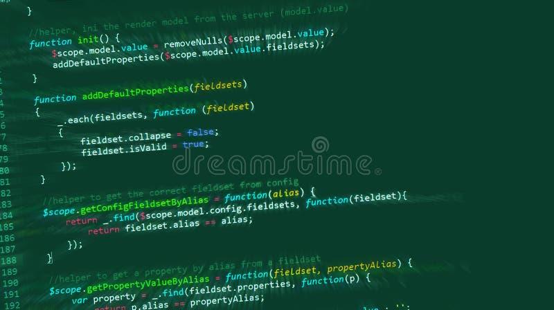 Web do HTML do código de computador do Internet ilustração stock