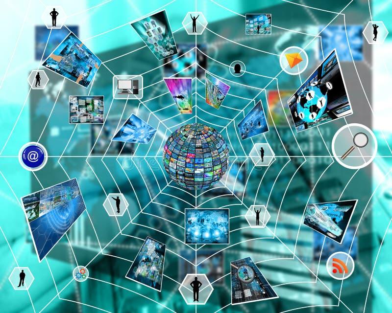 Web do Internet ilustração royalty free