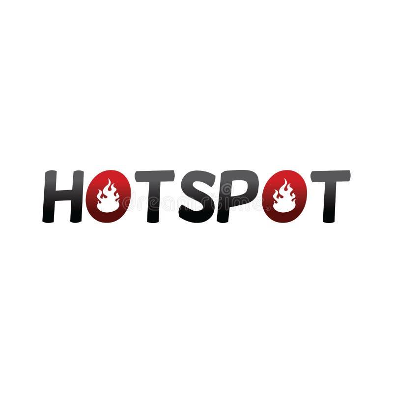 Web do molde do texto do fogo do ponto quente ilustração do vetor