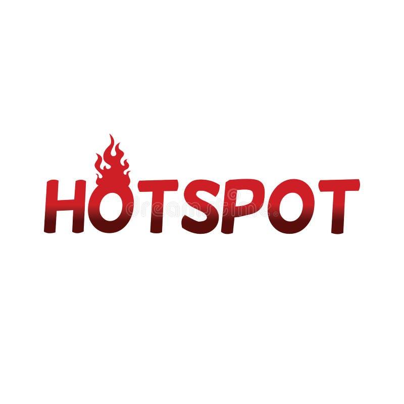 Web do molde do texto do fogo do ponto quente ilustração royalty free