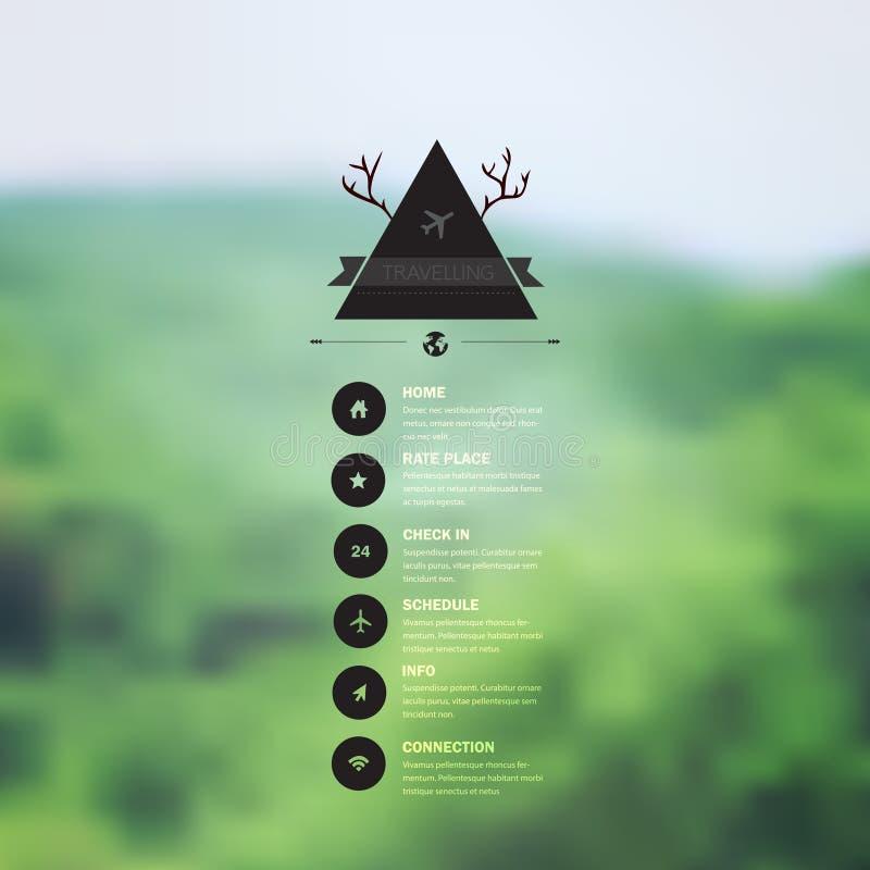 Web do vetor e molde móvel da relação Desi incorporado do Web site ilustração do vetor