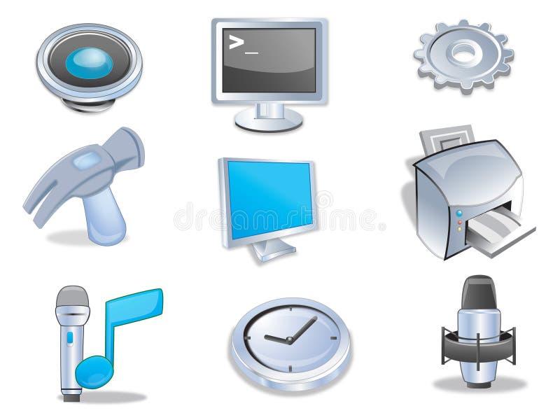 Web dos ícones ilustração stock
