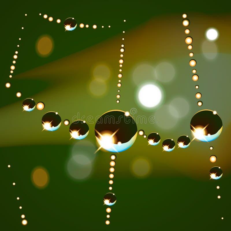 Download Web drops background stock vector. Image of dark, spider - 29242048