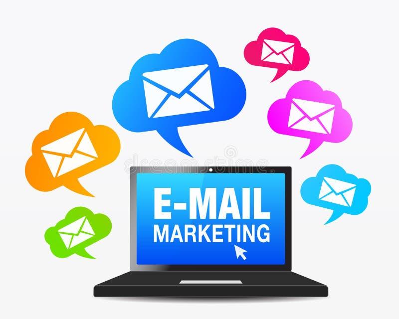 Web E-mail Marketing Pictogrammen vector illustratie