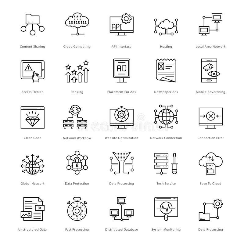 Web e SEO Line Vector Icons 56 illustrazione vettoriale