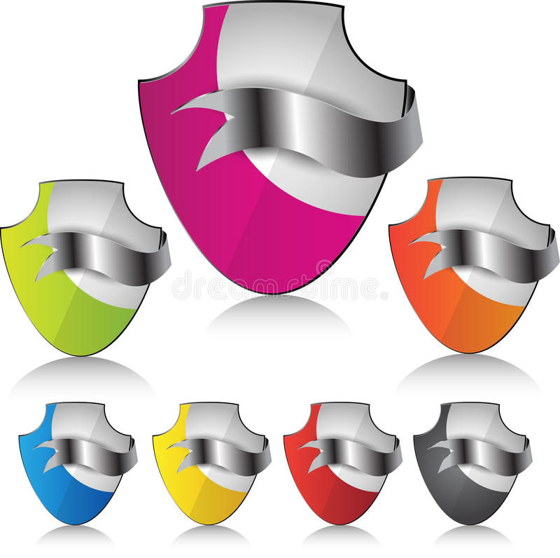 Web element or icon for security. royalty free illustration