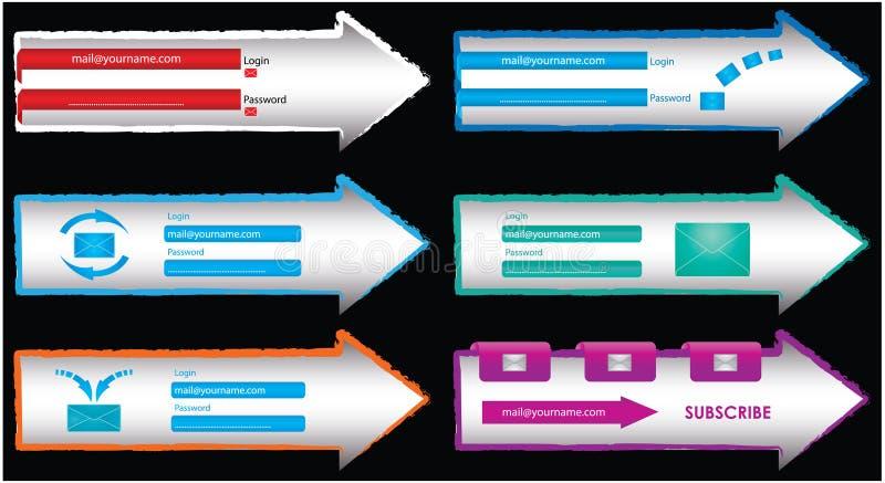 Download Web elements stock illustration. Illustration of publicity - 17418984