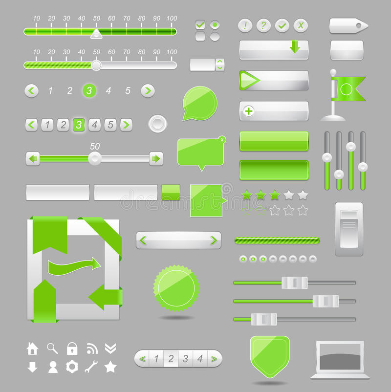 Download Web elements design stock vector. Illustration of house - 22800203