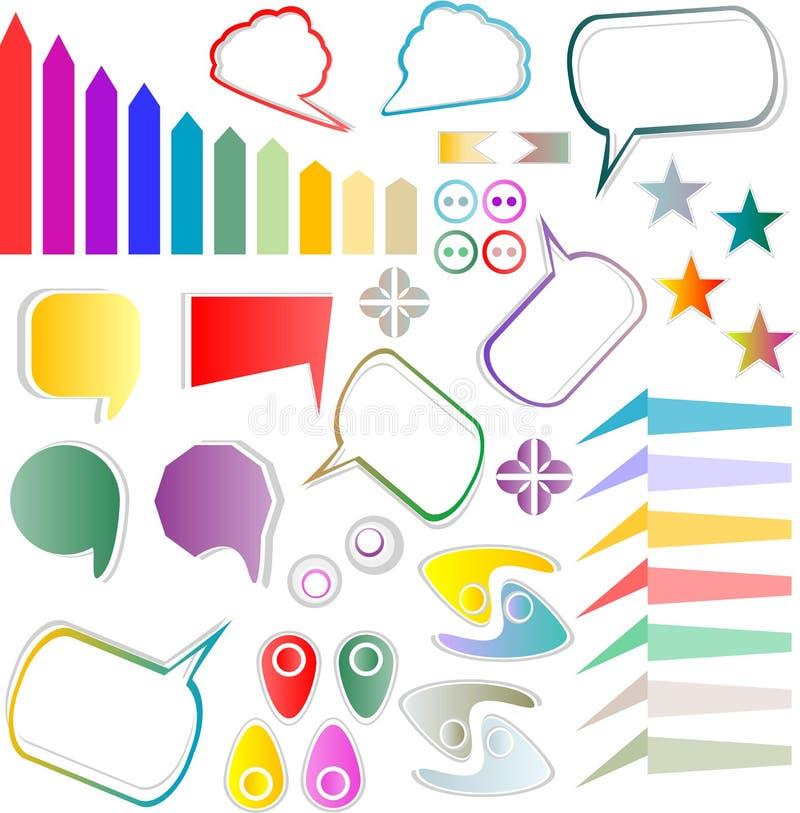 Download Web Elements Design Scrapbook Set Stock Vector - Illustration of color, scrapbook: 24547675