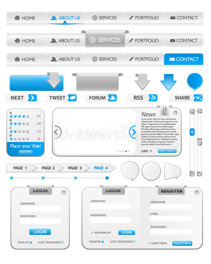Web Elements Template 2 Royalty Free Stock Image
