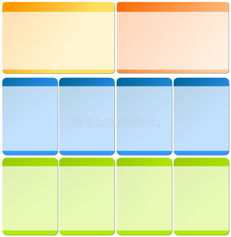 Web elements for templates vector illustration