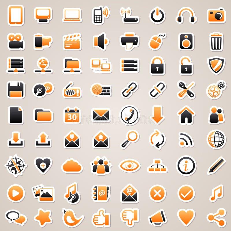 Web en computerstickers. vector illustratie