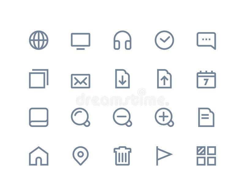 Web en Internet-pictogrammen Lijnreeks vector illustratie
