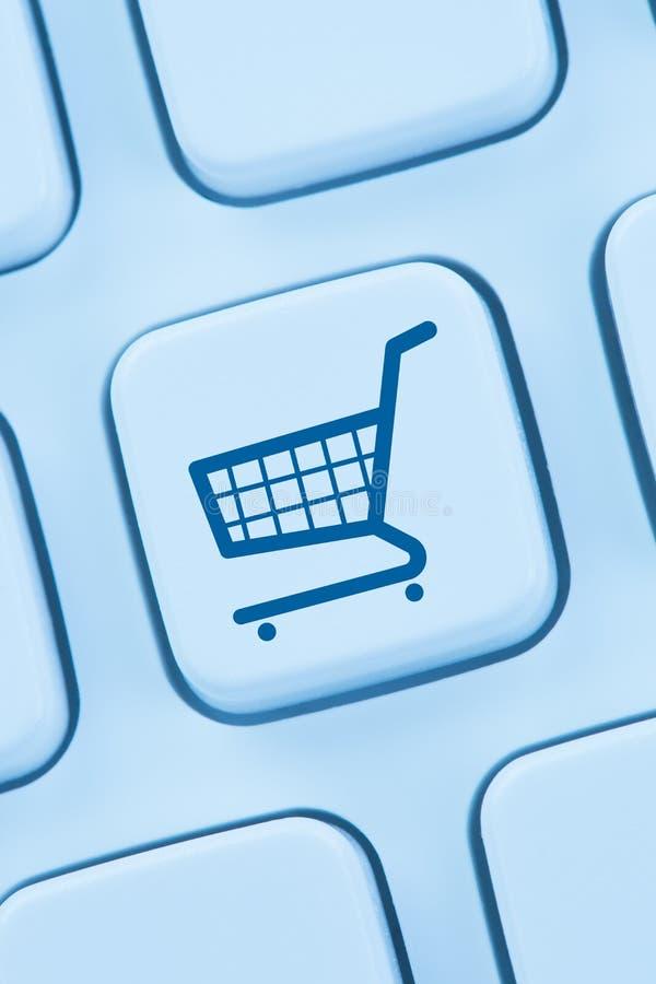 Web en línea del ordenador de la tienda de Internet del comercio electrónico del comercio electrónico de las compras fotografía de archivo