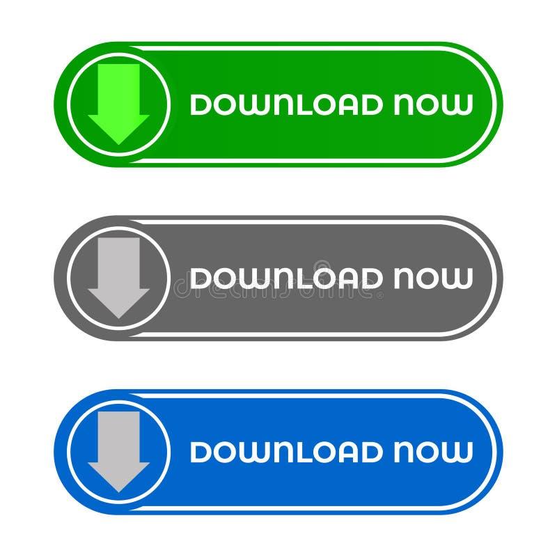 Web en Mobiele Downloadknoop vector illustratie