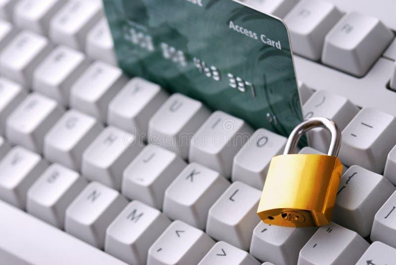 Web en online bankveiligheid stock foto