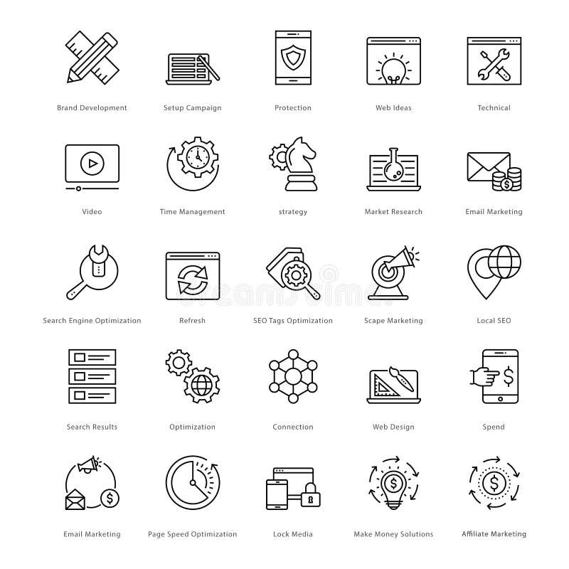 Web en SEO Line Vector Icons 12 vector illustratie