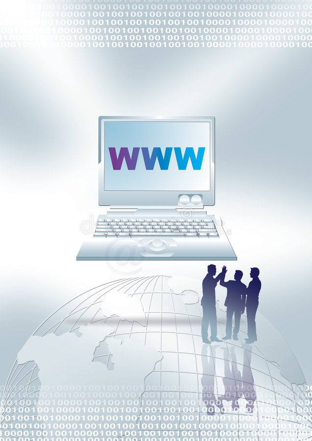 Web en zaken stock illustratie