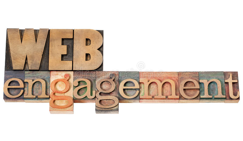 Download Web Engagement In Wood Type Stock Image - Image: 27075467