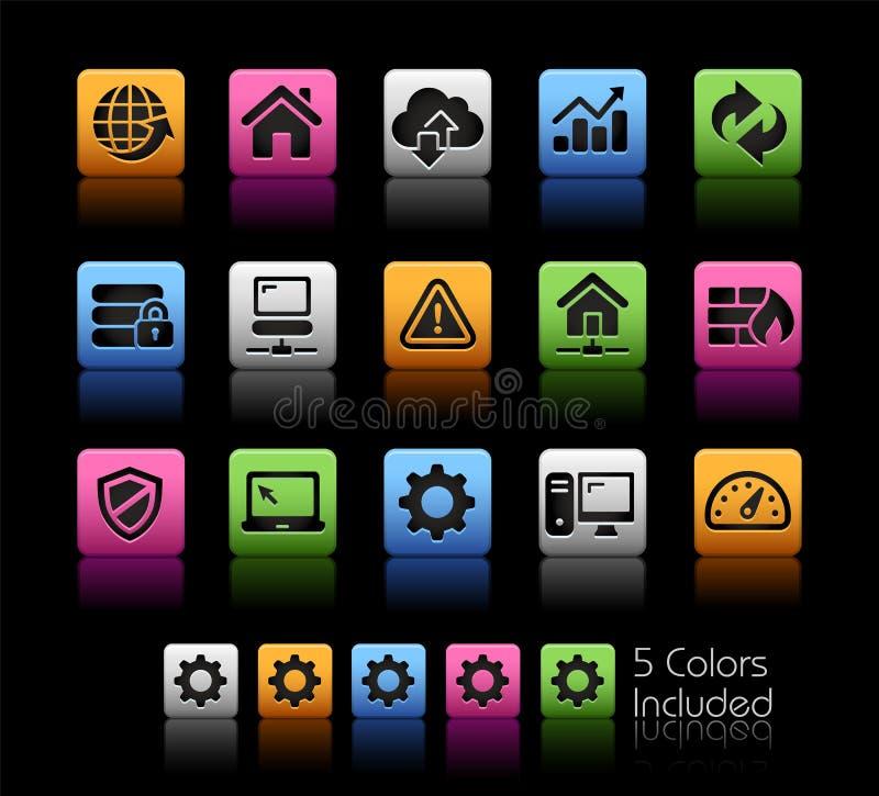 Web-Entwickler Icons vektor abbildung